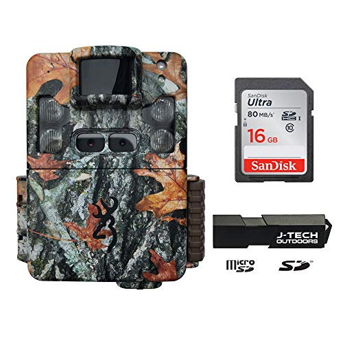Browning Strike Force Pro XD Trail Camera (24MP) with 16GB Memory Card and J-TECH Memory Card Reader | BTC5PXD (Game Camera Strike Force)