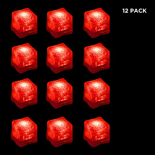 ED Ice Cubes with Changing Lights and On/Off Switch (Red) ()