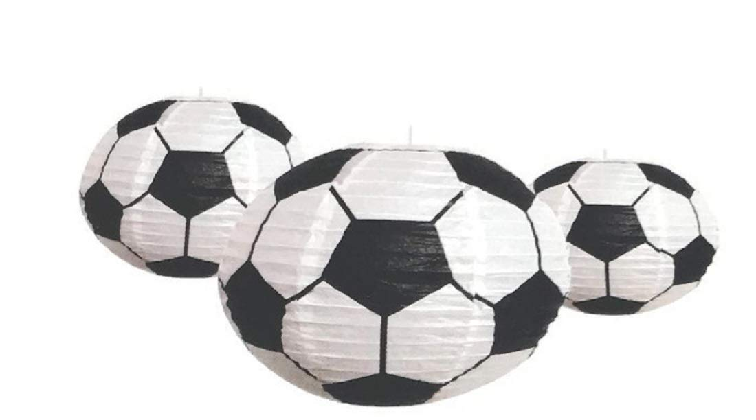 Sports Balls Paper Lanterns Basketball Set of Three for Party Decorations Home and Office Deco LSR Sports Themed Parties Team Events