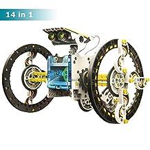 Extpro 14 in 1 Solar Robot Kit Science Building Set DIY Assembly Solar Car Toys for Kids Over 10 Year Old