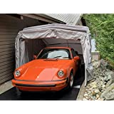 Ikuby All Weather Proof Medium Carport, Car Shelter, Car Canopy, Car Garage, Car shed, Car House, Car Park, Foldable, Retract