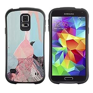Suave TPU GEL Carcasa Funda Silicona Blando Estuche Caso de protección (para) Samsung Galaxy S5 / CECELL Phone case / / Pink Ice Cream Painting Art /
