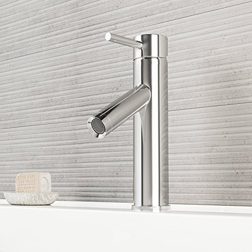VIGO VG01008CH Alicia Bathroom Faucet, Single-Hole Deck-Mount Lavatory Faucet with Plated Seven Layer Polished Chrome Finish