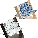 Stokke Tripp Trapp Cushion Ocean Stripe & Aqua Star Set