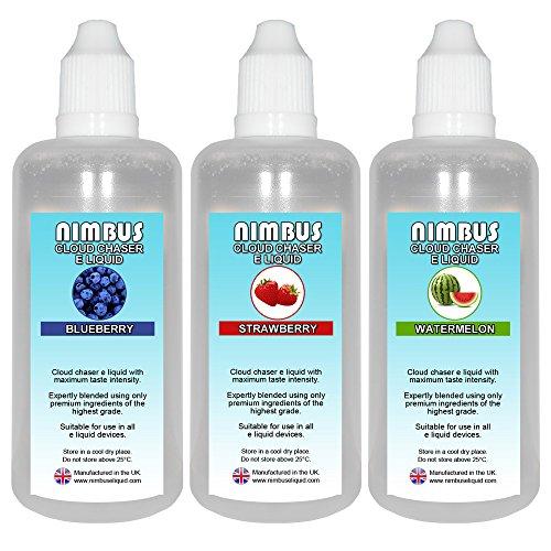 3x 100ml E Liquid Mixed Fruits (A) : Blueberry | Strawberry | Watermelon |...