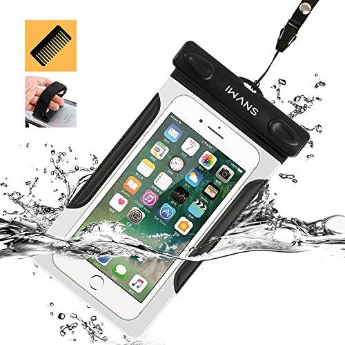 iWANS 防水ケース スマホ用防水ポーチ 防水等級IPX8 高感度PVCタッチスクリーン お風呂 温泉 潜水 5.5インチまでのiPhoneとAndroidスマホに対応可能の商品画像