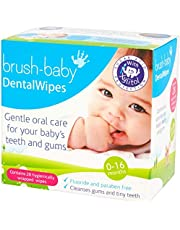 Brush-Baby Dental Wipes (pack of 28 individually wrapped wipes)