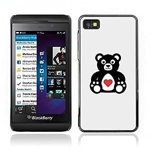 Hot Style Cell Phone PC Hard Case Cover // V0000713 Valentine's Day Teddy Bear //BlackBerry Z10