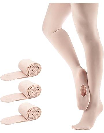 b5b18d6737745 Bezioner Collants de Danse pour les Filles Femmes pour Ballet Yoga  Gymnastique Convertible