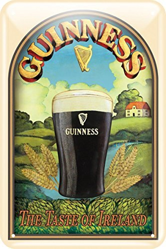 Guinness Metal Sign With Taste Of Ireland Design