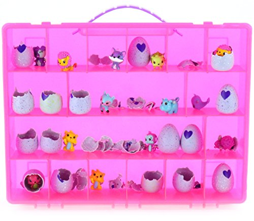 : My Egg Crate Storage Organizer By Life Made Better - compatible with the Hatchimals and Hatchimal Colleggtibles brands - Durable Carrying Case For Mini Eggs, Easter Eggs & Speckled Eggs – Pink
