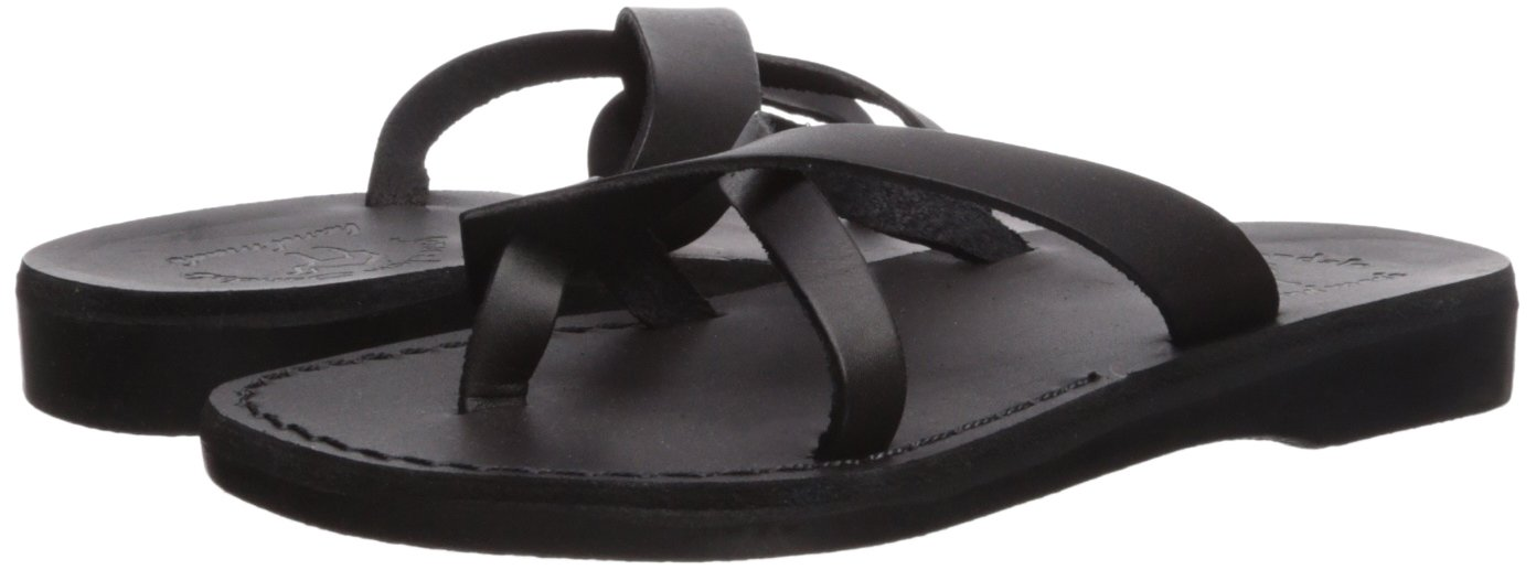 Jerusalem Sandals Women's Arad Slide Sandal B075KN8D83 41 Medium EU (10-10.5 US)|Black