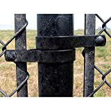 """Jake Sales 2-3/8"""" Tension Band for Chain Link Fence - Use for 2-3/8"""" Outside Diameter Post/Pipe - Black Powder Coated Chain Link Tension Band"""