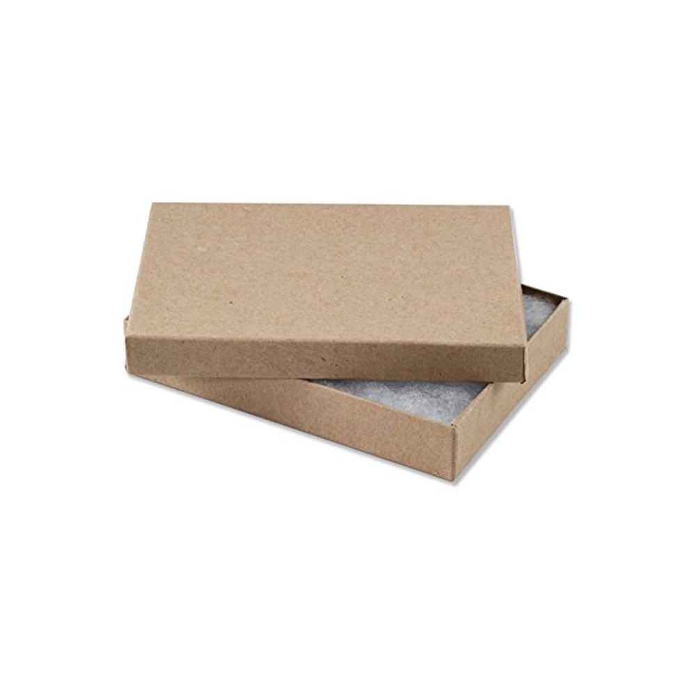 25 Kraft Charm Jewelry Box Gift Display Case 5 3 8 x 3 7 8 x 1