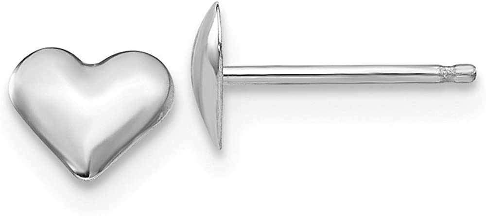 B007RDMROU 14k White Gold Small Heart Post Stud Earrings Love Fine Jewelry For Women Gifts For Her 515Hbv4SdgL