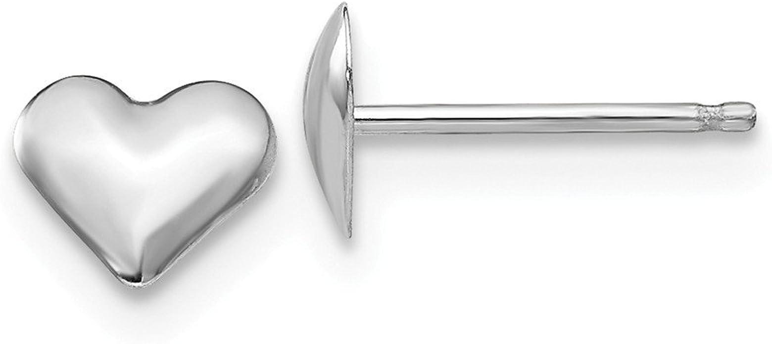 Small Puffed Heart Earrings 14k Yellow Gold Madi K