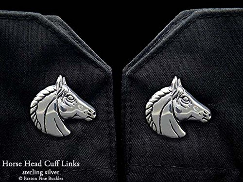Horse Head Cuff Links in Solid Sterling Silver Hand Carved & Cast by Paxton by Paxton Jewelry