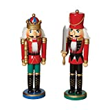 12'' Tall Traditional Wooden Nutcrackers With Sword (Set of 2 Assorted)