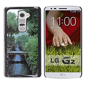 LECELL -- Funda protectora / Cubierta / Piel For LG G2 D800 D802 D802TA D803 VS980 LS980 -- Nature Misty Morning --