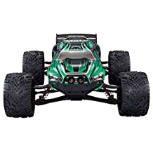 GPTOYS RC Cars S912 LUCTAN 33MPH 1/12 Scale Electric Monster Hobby Truck With Waterproof Electronics,Remote Control Off Road Green Truggy Toys