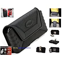 Rugged QX NXT Extra Large Tough Heavy Duty Extra Strength Resilient Ballistic Nylon Material Horizontal/Vertical Black Holster Pouch Indestructible Design (Triple armored) Magnetic front Closure W/Detachable Swivel Quad Lock Metal Steel Belt Clip for Sprint At&t / Verizon /T-mobile / U.S. Cellular/ Boost Mobile Apple Iphone 6 Plus 5.5 inch Cellphone