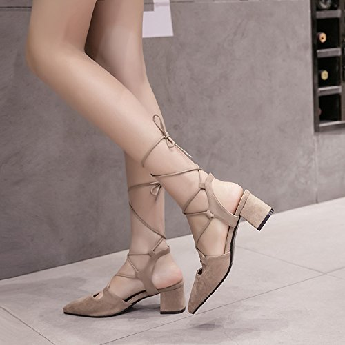 Sandalias americanas y modas sandalias las europeas RUGAI y black para UE AfR6qxAF5w