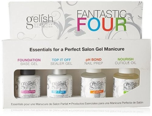 NEW Gelish Fantastic Four Soak-Off Gel Nail Polish Kit For L