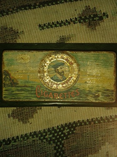 PLAYERS NAVY CUT CIGARETTES TOBACCO TIN ENGLAND VINTAGE (Navy Cigarettes Players Cut)