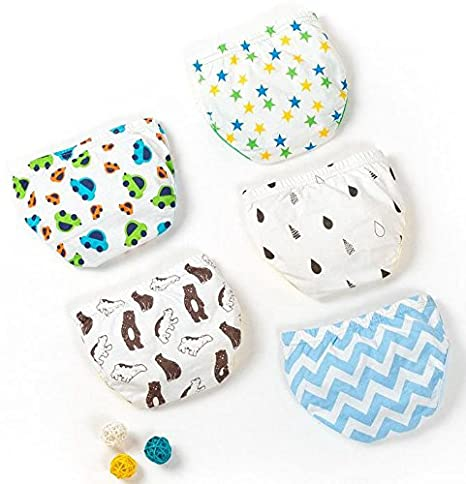 Jomin Baby Boy's Cotton Toddler Underwear 5 Pack (Medium) Joyo roy