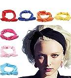 JOYEBUY 8 Pcs Women's Turban Headbands Elastic Head Wrap Headbands Hair Bands (Style F)