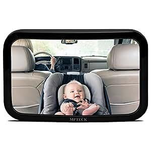 Mpteck espejo retrovisor beb coche retrovisor ajustable irrompible espejo para vigilar al - Espejo coche bebe amazon ...
