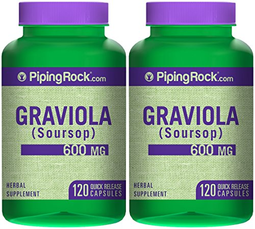 Graviola 600 mg Soursop 2 Bottles x 120 Capsules