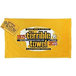 NFL Pittsburgh Steelers 40th Anniversary Official Terrible Towel Limited Edition