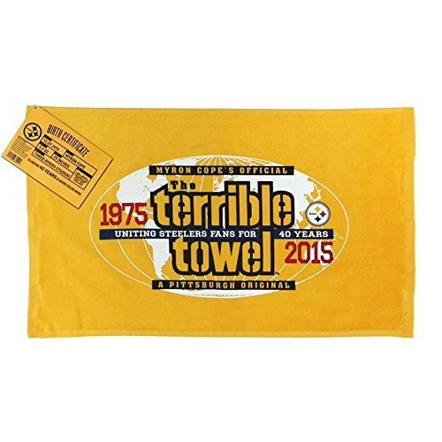 NFL Pittsburgh Steelers 40th Anniversary Official Terrible Towel Limited - Edition Limited 40th