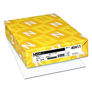 Wausau Paper Index Card Stock, 92 Brightness, 110 lb, Letter, White, 250 Sheets per Pack (49411)