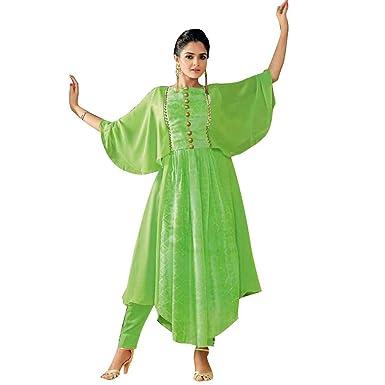 1899aee9a9d4 Amazon.com  Ladyline Designer Indian Stylish Long Kurti Kurta Tunic ...