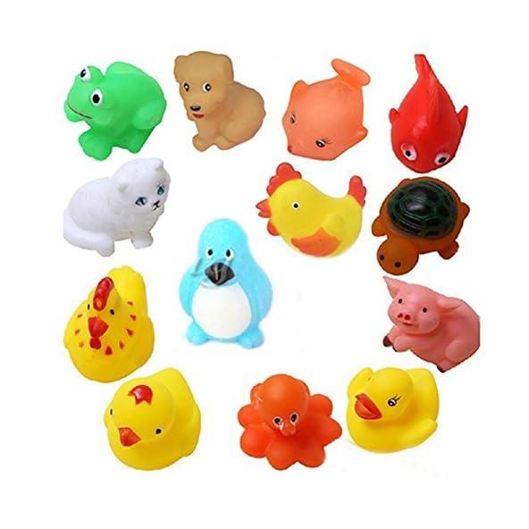 Advent Basics Chu Chu Bath Toys for Baby Non-Toxic Toddler, Multi (12 Toys)