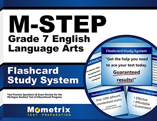 M-STEP Grade 7 English Language Arts Flashcard Study System: M-STEP Test Practice Questions & Exam Review for the Michigan Student Test of Educational Progress (Cards) by Mometrix Media LLC