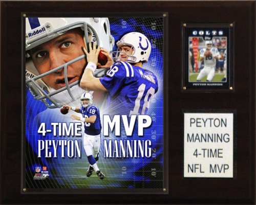 NFL Peyton Manning 4 Time MVP Indianapolis Colts Player Plaque (Football Nfl Manning Peyton)