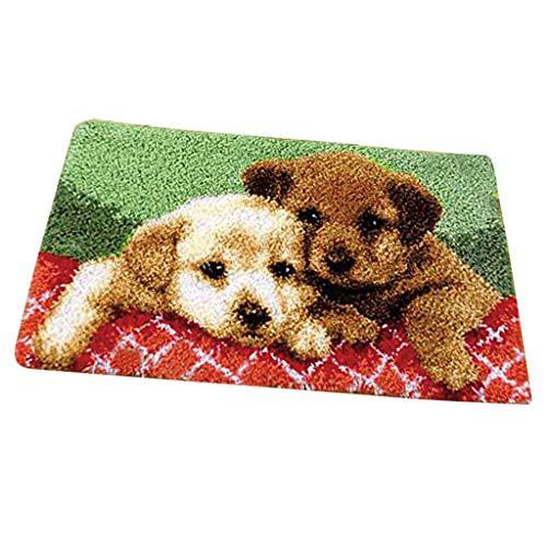 Prettyia Square Carpet Latch Hook Kits -