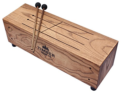 timber drum co t18 m made in usa slit tongue log drum with mallets video ebay. Black Bedroom Furniture Sets. Home Design Ideas