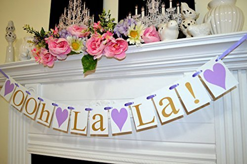 ooh la la bridal shower decorations wedding garland lingerie party decor gold ooh