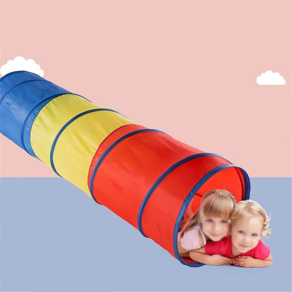 Tienda de campaña, patio de juegos para niños, ligero, túnel desplegable, tubo de arrastre (azul, verde, rojo y amarillo rojo) Azul-1
