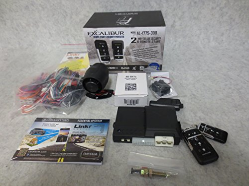 (EXCALIBUR AL-1775-3DB - Deluxe LED 2-Way Vehicle Security & Remote Start system)