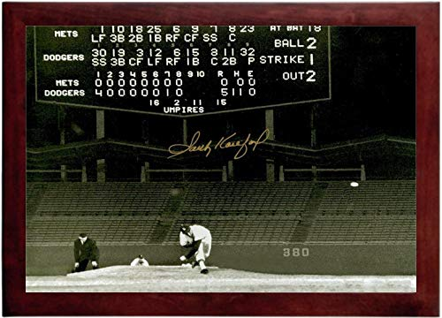 Sandy Koufax Autograph Replica Super Print - Dodger Stadium No Hitter - Landscape - (Dodgers No Hitters)