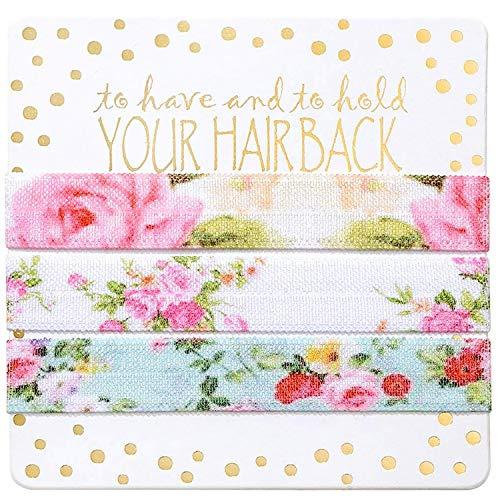 Bridesmaid Gifts, Bachelorette Party Decorations (6 x 3pc Set, Flower)