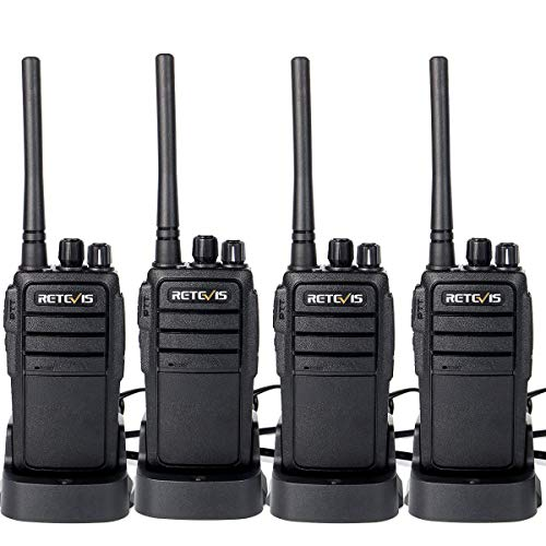 Retevis RT21 Walkie Talkies Rechargeable 16 Channels FRS License-Free 2 Way Radios(4 Pack) (Retevis 4 Pack Walkie Talkie)