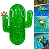 Giant Inflatable Cactus Swim Pool Float Summer Outdoor Beach Swimming Pool Party Lounge Raft for Adults Kids