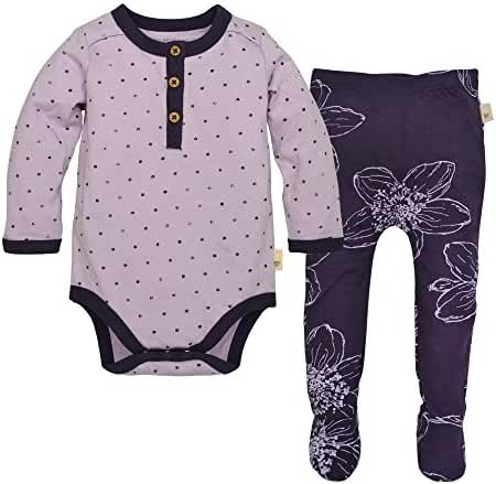 Burt's Bees Baby Baby Long Sleeve Organic Bodysuit and Footed Pant