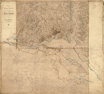 Amazon.com: Civil War Map Reprint: Map of the environs of ...